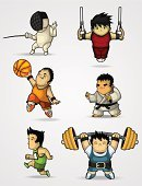 Sport,Characters,People,The Olympic Games,Power,Event,Pursuit,Pursuit - Concept,Judo,Basketball - Sport,Vector,Competitive Sport,Sports Track,Sports Race,Illustrations And Vector Art,Set,Physical-culture,Jogging,People,Muscular Build,Activity,Summer,Sports Training,Track Event,Medalist,Success,Speed,Lifestyles,Strength,Energy,Exercising,Healthy Lifestyle,Fencing,Professional Sport,Sports And Fitness,Vector Cartoons,Running,Weightlifting,The Human Body,Athlete,Gymnastics,Ilustration