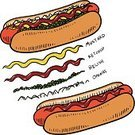 Hot Dog,Vector,Sausage,Hot Dog Stand,Barbecue,Relish,Pickle Relish,Sketch,Pencil Drawing,Bratwurst,Ilustration,Italian Sausage,Isolated Objects,Hot Dog Cart,Food And Drink,Kielbasa,Summer,Heat - Temperature,Pork,Food,Drawing - Art Product,Isolated,Illustrations And Vector Art,Meat And Alternatives,Onion,Beef,Doodle,Ketchup,Mustard,Condiment,Bun