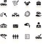 Computer Icon,Symbol,Car,Icon Set,Car Key,Contract,Car Rental,Parking Lot,People,Black Color,Human Hand,List,Credit Card,Handshake,Sale,White,Automobile Industry,Back Lit,Vector,Silhouette,Luggage,Percentage Sign,Time,Elegance,Examining,Clock,Magnifying Glass,Garage,Cartoon,Ilustration,Speech Bubble,Illustrations And Vector Art,Men,Design Element,Suit