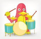 Drum,Playing,Drumstick,Drum Kit,Design,Isolated,Cartoon,Fairy,Cute,Art,Illustrations And Vector Art,Monster,Fairy Tale,Character Traits,Humor,Individuality,Fun,Gray,Cheerful,Music,Musical Instrument,Vector Cartoons,Clip Art,Happiness,Ilustration,Caricature,Equipment,Mascot,Vignette,Characters,Rock and Roll,Vector,Concepts And Ideas,Tom Tom,Grid,White,Action,Drummer,Performer,Arts And Entertainment,Percussion Instrument,Music,Smiling