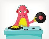 Music,Mixing,Radio Dj,Monster,Party - Social Event,Headphones,Characters,Concepts And Ideas,Arts And Entertainment,Ilustration,Design,Sound,Gray,Caricature,Cheerful,Clip Art,Joy,Dance And Electronic,Clubbing,Audio Equipment,Art,Fun,Humor,Disco,Nightlife,Music,Cute,Equipment,Illustrations And Vector Art,Grid,Isolated,Entertainment,Vector,Vignette,Mascot,Character Traits,White,Fairy Tale,Cartoon,Record,Smiling,Individuality,Vector Cartoons,Happiness,Electro Pop,Fairy