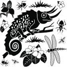 Chameleon,Flower,Tropical Climate,Single Flower,Orchid,Insect,Rainforest,Symbol,Stencil,Computer Icon,Africa,Plant,Silhouette,Tropical Rainforest,Icon Set,Clip Art,Lizard,Side View,Vector,African Violet,Ilustration,Animal,Reptile,Reptiles,Illustrations And Vector Art,Set,Design Element,Dragonfly,Design,Assassin Bug,Animals In The Wild,Animals And Pets,Insects,Vector Icons,Profile View,Black And White,Flying,Black Color,Wildlife,Nature,Hanging