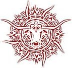 Bull - Animal,Texas Longhorn Cattle,Southwest USA,Rope,Ilustration,Pattern,Design,Symbol,Sunlight,Sun,Maroon,Cow,Nature Symbols/Metaphors,Nature,Animals And Pets,Circle,Farm Animals,Vector Ornaments,Illustrations And Vector Art,Star Shape,Blurred Motion,Red,Horned