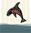 Inuit,Killer Whale,Water,Symbol,Animals And Pets,Sea,Sea Life,Diving,Breaching,Folk Music,Whale