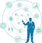Finance,Business,Silhouette,Touch Screen,Symbol,Computer Icon,Businessman,Icon Set,Ideas,Blue,Concepts,Solution,Problems,Ilustration,Isolated On White,Isolated,Infographic,Computer Graphic,Vector,Success,business team