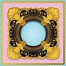 Square,Gold Colored,Antique,Ilustration,Blank,Copy Space,Ornate,Vignette,Design Element,Decoration,Old-fashioned,Vector,Art Product,Surrounding,Pattern,Flame,Design,Color Gradient,Shiny,Black Color,Computer Graphic,Backgrounds,Victorian Style,Circle,Frame