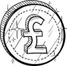 Finance,British Pounds,UK,Doodle,Sketch,Pound Symbol,British Currency,Business,Currency,Currency Symbol,Coin,Ilustration,Pencil Drawing,Insignia,Vector,Drawing - Art Product,Business,Exchange Rate,Isolated Objects,Isolated,Symbol,Illustrations And Vector Art,Business Symbols/Metaphors,Market,Retail,Wealth,British Culture,Change