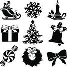 Holiday,Black And White,Bow,Christmas,Holly,Stencil,Christmas Present,Computer Icon,Symbol,Gift,Bell,Icon Set,Wreath,Ilustration,Vector,Black Color,Peppermint,Christmas Tree,Christmas Decoration,Set,Clip Art,Decoration,Christmas Ornament,Candle,Tree,Christmas Stocking,Berry,Candy
