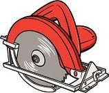 Circular Saw,Cutting,Electric Saw,Objects/Equipment,Isolated,Heavy Industry,Industrial Objects/Equipment,Industry,Machinery,Construction,Cartoon,Vector,Circular Saw Power Tool,Carpentry,Ilustration,Work Tool,Home Improvement,Equipment
