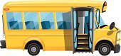 School Bus,Bus,Side View,Field Trip,Vehicle Door,Ilustration,Education,Transportation,Yellow,Cute,Cartoon