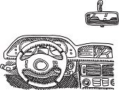 Car,Cockpit,Sketch,Doodle,Rear-View Mirror,Line Art,Black And White,Direction,Steering Wheel,Modern,Design Element,Mobility,Road Trip,No People,Transparent,Vector,Travel,Symbol,Clip Art,Vehicle Interior,Land Vehicle,hand drawn,Horizontal,Technology,Simplicity,Speedometer,Global Positioning System,Ilustration,black-and-white,Isolated On White,Driving,Computer Graphic,Pen And Marker,Gauge,Drawing - Art Product,Control Panel,Inside Of,Single Object