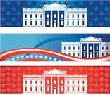 White House,Vector,USA,Election,Washington DC,Presidential Election,Banner,Republican Party,Voting,American Flag,Frame,Famous Place,Democratic Party,Red,White,Star Shape,Politics,Striped,Horizontal,red white and blue,Flag,Patriotism,Political Party,Pennsylvania Avenue,Symbol,executive branch,Web Banner,American Culture,Blue,Picture Frame,Government,President Of The USA,Ilustration