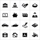 Symbol,Computer Icon,Banking,Icon Set,Car,Bank,Coin Bank,ATM,Nest Egg,House,Loan,Credit Card,Currency,Financial Advisor,Electronic Banking,Credit Union,Vaulted Door,Residential Structure,Bank Teller,Finance,Piggy Bank,Nautical Vessel,Savings,Calculator,Bank Account,Computer,Check - Financial Item,Black Color,Investment,Men,Women,financial institution,Home Loan,Vector Icons,Illustrations And Vector Art,Mortgage Loan,Car Loan,People