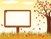 Leaf,Frame,Falling,Autumn,Billboard,Placard,Tree,Nature,Wood - Material,Brown,Orange Color,Sky,Red,Fall,Illustrations And Vector Art,Outdoors,Blank,Frame,Nature,Vector Ornaments,Vector,Grass,Multi Colored,Beige,Yellow