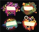 Backgrounds,Vitality,Energy,Graffiti,Multi Colored,Black Background,Futuristic,Design Element,Creativity,Variation,Curve,Computer Graphic,Isolated On Black,Arts Abstract,Technology,Clip Art,Isolated Objects,Multiple Image,Shape,Chaos,Banner,Ilustration,Black Color,Two-dimensional Shape,Composition,Isolated,Arts Backgrounds,Visual Screen,Vibrant Color,Arts And Entertainment,Abstract,Geometric Shape,Vector,Isolated-Background Objects