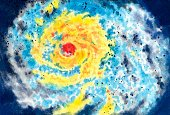 Hurricane - Storm,Disaster,Crisis,Natural Disaster,Eye Of Storm,Aerial View,Tropical Storm,Storm,Cyclone,No People,Cloudscape,Weather System,Violent Wind,hand drawn,Watercolor Painting,Art Product,Violent Storm,Swirl,Ilustration,Stratosphere,Vortex,Wind,Power,Action,Curve,Spiral,Traditional Watercolor,Motion,Nature,Atmosphere,Distructive,severe storm,Hand Colored,Painting & Illustration