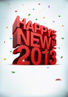 New Year's Eve,2013,New Year's Day,New Year,Confetti,Three-dimensional Shape,Typescript,Celebration,Vector,Text,Greeting,Year,Holidays And Celebrations,New Year's,Illustrations And Vector Art,Copy Space,Holiday,Design