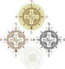 Ancient,Celtic Culture,The Past,Celtic Style,Map,Cartography,Retro Revival,Compass,Old-fashioned,Kells,Book Of Hours,Compass Rose,Antique,Circa 10th Century,Dial,Cultures,Parchment,The Way Forward,Medieval,Old,Religious Occupation,Men,Obsolete,Direction,Isolated On White,Pointing,Exploration,Travel,South,Discovery,Celtic Knot,North,Ilustration,Topography,History,Circa 11th Century,Vector