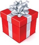 Gift,Gift Box,Red,Box - Container,Holiday,Bow,Christmas,Wrapped,Ribbon,Silver Colored,Package,Isolated,Birthday,Vector,Star Shape,Colors,Color Image,Shape,Decoration,Celebration,Above,Isolated On White,Bright,Image,Ilustration,Design,Shiny,Vibrant Color,Painted Image