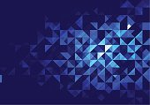 Abstract,Backgrounds,Pattern,Triangle,Geometric Shape,Blue,Vector,Two-dimensional Shape,Colors,Pixelated,Square,Color Image,triangulation,Ilustration,Design,Dark,Modern,Horizontal,Vibrant Color,Composition,Art,Wallpaper Pattern,Illustrations And Vector Art,Vector Backgrounds