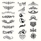 Design Element,Decoration,Pattern,Decorating,Modern,Set,Vector Ornaments,Elegance,Illustrations And Vector Art,Computer Graphic,Vector,Obsolete,Ornate,Curve,Classical Style