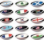 Rugby,Scotland,Northern Ireland,Republic of Ireland,Fiji,Flag,Rugby Ball,Australia,American Football - Sport,Football,USA,Argentina,National Team,Championship,Korea,Sports And Fitness,Sport,National Landmark,Competition,Team Sport,South Africa,England,France,Italy,Illustrations And Vector Art,Wales,Canada,Set,Samoa,New Zealand,Team Sports