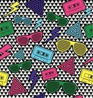 1980s Style,Pattern,Backgrounds,Sunglasses,Neon Color,Music,Geometric Shape,Eyeglasses,Wallpaper Pattern,Cool,Funky,Audio Cassette,Design,Hip Hop,Vector,Fashion,Hip Hop,Youth Culture,Fun,Vibrant Color,1940-1980 Retro-Styled Imagery,Painted Image,Computer Graphic,Multi Colored,Triangle,Retro Revival,Seamless,Digitally Generated Image,Decoration,Striped,Black Color,Design Element,Clip Art,Pink Color,Color Image,Style,Green Color,Yellow,Arts And Entertainment,New Rave,Ilustration,Fashionable,Illustrations And Vector Art,Modern,Blue,Nu Rave,Concepts And Ideas,Purple,Textile
