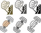 Weights,Barbell,Human Hand,Lightning,Macho,Weight Training,Health Club,mighty,Gripping,Gym,Fist,Holding,Exercising,Instructor,Body Building,Weightlifting,Muscular Build,Male,Human Muscle,Picking Up,Design Element,Lift Weights,Power,Illustrations And Vector Art,Strength,Energy,Confidence,Endurance,Masculinity,Sports Equipment,Electricity