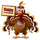 Thanksgiving,Turkey - Bird,Cheerful,Humor,Cartoon,Holiday,Vector,Sign,Bird,Poultry,Feather,Characters,Cute,Smiling,Ilustration,Animals And Pets,Birds,Orange Color,One Animal,Illustrations And Vector Art,Holidays And Celebrations,Red,Isolated On White,Vector Cartoons,Autumn,Standing,Thanksgiving,Brown,Harvesting