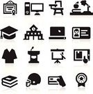 Computer Icon,University,Icon Set,Lecture Hall,Classroom,Campus,Education,Diploma,School Building,Laptop,Graduation Gown,Student,Ribbon,Book,Seminar,ID Card,Hat,Mortar Board,Digital Tablet,Graduation,Identity,Computer,Projection Equipment,Insignia,Building Exterior,Desk,Built Structure,Learning,Chair,Sport,Sports Helmet,Podium,Projection Screen,Credit Card,Vector,Collection,Illustrations And Vector Art,Award,Ilustration,Vector Icons,Online Education,Set