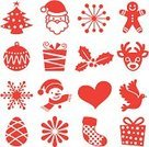 Christmas Decoration,Symbol,Santa Claus,Christmas,Cookie,Christmas Ornament,Gift Box,Christmas Stocking,Snowman,Christmas Tree,Snowflake,seamless pattern,Dove - Bird,Illustrations And Vector Art,Holiday Symbols,Deer,Holidays And Celebrations,Vector Icons,Christmas,Holiday,Celebration,Seal - Stamp,Red