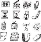 Sketch,Internet,Design,Computer,Collection,Pencil Drawing,Doodle,Grunge,Set,Illustrations And Vector Art,Symbol,Isolated Objects,Vector Icons,Vector,Isolated-Background Objects,Vector Cartoons,Computer Graphic,Computer Icon,Connection,Sign