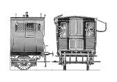 Train,Railroad Car,Ilustration,Old,Obsolete,Engraving,Engraved Image,Passenger,Composition,Vertical,Transportation,Rairoad Car,Steel,Railway,Mode of Transport,Railing,People Traveling,Car,Travel Locations,Transportation,Railroad Track,Retro Revival,Wheel,Single Object,No People,Journey