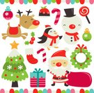 Christmas,Cartoon,Santa Claus,Reindeer,Cute,Characters,Christmas Tree,Snowman,Set,Lollipop,Christmas Stocking,Fun,Penguin,Design Element,Mistletoe,Decoration,Christmas Ornament,Christmas Pudding,Holiday Symbols,Holiday,Christmas,Gift,Candy Cane,christmas wreath,Holidays And Celebrations