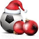 Soccer,Christmas,Sport,Santa Claus,Soccer Ball,Sphere,Circle,Ball,Red,Football,Santa Hat,Christmas Decoration,Color Image,Christmas Ornament,Decoration,Illuminated,Winter,Close-up,No People,Hat,White Background,Isolated,Santa Cap,Christmas Lights,Isolated On White,Cap,Bubble,Christmas Cap,Three-dimensional Shape,Snowflake,Holiday,White,Decor,Bow