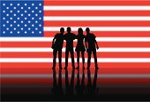 USA,Silhouette,bipartisan,Flag,Togetherness,Agreement,Partnership,One Person,American Culture,American People,Ideas,American Flag,Concepts,Friendship,Election,Vector,People,American Election,Women,Men,Outline,Ilustration,Group Of People,Arm In Arm