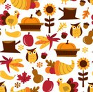 Thanksgiving,Turkey - Bird,Owl,Retro Revival,Pattern,Cornucopia,Autumn,Backgrounds,Oak Leaf,Nut - Food,Crop,Tree Stump,Design Element,Maple Leaf,Sunflower,Corn - Crop,Seamless,Pumpkin,Corn,Gourd,Wallpaper Pattern,autumn leaves