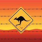 Sand,Kangaroo,Road Sign,Earth,Sky,Desert,Mud,Liquid,Fence,Warning Sign,Landmarks,At Attention,Travel Locations,Symbol,Spray,Boundary,Australia,Animals And Pets,Sign,Wild Animals,Travel Backgrounds,Heavy Metal,Road Warning Sign,Wire,Heat - Temperature,Warming Up,Barbed Wire,Construction Barrier,Animal