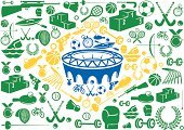 Brazil,Stadium,Sport,Symbol,Soccer,Icon Set,Podium,Computer Icon,Stopwatch,Sports Venue,Ilustration,Badminton,Tennis,Flag,Football,Basketball,Vector,Field Hockey,Brazilian Flag,Running Track,Bicycle,Arrow,Medal,Rifle,Sports And Fitness,Fencing,Boxing,Weightlifting,Archery,Target Shooting,Table Tennis,Basketball - Sport,Illustrations And Vector Art,summer sports,Ball,Vector Icons