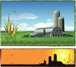 Silo,Agriculture,Barn,Farm,Corn - Crop,Landscaped,Landscape,Corn,Field,Harvesting,Environmental Conservation,Fence,Sunrise - Dawn,Vector,Nature,Nature Backgrounds,Agriculture,Dusk,Brown,Grass,Crop,Landscapes,Green Color,Backgrounds,Sunset,Morning,Industry