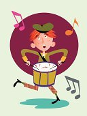 Retro Revival,Popular Music Concert,Old-fashioned,Tweed,Child,Cap,Cute,Music,Young Adult,Drumstick,Teenager,Percussion Instrument,Color Image,Musical Note,Musician,Snare Drum,Red,One Person,Playing,Musical Instrument,Singing,Ilustration,Circle,Hat,Orange Color,Green Color,Burgundy,Pattern,Fun,Vector,Cartoon,Drum,Antique,Drum Kit,Little Boys,Drummer