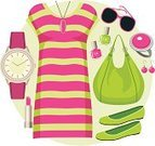 Wristwatch,Fashion,Women,Vector,Earring,Female,Design,Collection,Ilustration,Dress Shoe,Illustrations And Vector Art,Makeup/Cosmetics,Set,Casual Clothing,Ballet Slipper,Ring,Nail Polish,Bag,Beauty Product,Dress,Clothing,Beauty And Health,Watch,Striped,Beauty,Lipstick,Glamour,Red,Tunic