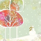Christmas,Holiday,Winter,Retro Revival,Snowman,Old-fashioned,Tree,New Year's Eve,Landscape,Cold - Termperature,Pattern,Snow,Nostalgia,Multi Colored,Plant,Nature,Christmas,New Year's,Holidays And Celebrations,Holiday Backgrounds,Copy Space,Vector,Snowing,Square