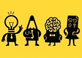 Creativity,Human Brain,Symbol,Business,Light Bulb,Inspiration,Ideas,Teamwork,Intelligence,Brainstorming,Team,Icon Set,Marketing,Organization,Strategy,Pencil,Leadership,Sketch,Human Resources,Meeting,Cartoon,Manager,Business Person,New Business,Vector,Office Interior,Yellow,Contemplation,Success,Doodle,Plan,Discussion,Concepts,Black Color,Document,Businessman,Communication,Planning,Cooperation,Businesswoman,Director,Ilustration,Design Professional,Occupation,Design,Gesturing,Computer Graphic,Two-dimensional Shape,Flat,Thumbs Up,Paper,Working,Rough,Tie,Clip Art,Characters