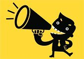 Showing Off,Voice,Megaphone,Shouting,Screaming,Manifesto,Communication,Business Person,Men,Cartoon,advertise,Talking,Yellow,announce,Vector,Tie,Computer Graphic,Ilustration,Flat,Politician,Message,Clip Art,Black Color,Businessman,Concepts,Manager,Two-dimensional Shape,Sound,Business
