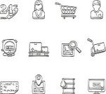 Sketch,Symbol,Computer Icon,Doodle,Freight Transportation,Icon Set,Shopping Cart,Box - Container,Business,Bar Code,Drawing - Art Product,Delivery Person,Transportation,Warehouse,Receipt,Industry,Pallet,Design Element,Internet,Call Center,Oil Drum,Wood - Material,Surveillance,Occupation,Stopwatch,Vector,Hands-free Device,Map,Telephone,Package,Export,Retail,Customer Service Representative,Headset,Human Resources,Packing,Carton,Computer Graphic,Distribution Warehouse,Cargo Container,Time,hand drawn,Service,Send,Computer Monitor,Magnifying Glass,Sending,Loading,Mode of Transport,Web Page,Storage Room,Shipping,vector illustration