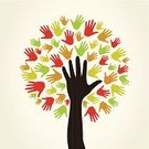 Human Hand,Tree,Nature,Nature,Plant,Plants,Computer Graphic,People,Ilustration,Vector,Anatomy,Men,Abstract