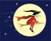 Witch,Moon,Halloween,Broom,sorceress,Evil,Disguise,Flying,Sky,October,Star - Space,Magic,Women,Spooky,Star Shape,Night,Autumn