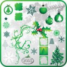 Christmas,Christmas Tree,Christmas Ornament,Snow,Tree,Christmas Decoration,Holly,Vector,Snowflake,Winter,Decoration,Green Color,Religious Icon,Branch,Window,Frame,Symbol,Design Element,Group of Objects,xmas elements,Art,Design,Ilustration,hulst,Berry,Isolated,Star Shape,Season,Variation,Scroll Shape,Hanging,Red,Isolated Objects,Holidays And Celebrations,Christmas,red berry,Ornate,Illustrations And Vector Art