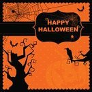 Halloween,Backgrounds,Back Lit,Silhouette,Frame,Shock,Spooky,Horror,Greeting Card,Raven,Bat - Animal,Tree,Holiday,Scrapbooking,Celebration,Halloween,Holidays And Celebrations,Swirl,Twilight,Night,Decoration,Cultures,Illustrations And Vector Art,Vector Backgrounds,Polka Dot,happy halloween,Text,Copy Space,Spider Web